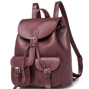Handbags - Beautiful coffee color pu women's/girls backpack